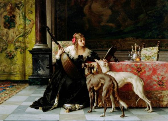 Бельгийский художник Florent Willems (1823-1905)