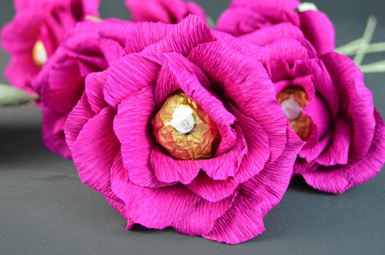 Цветок своими руками из бумаги и конфет своими руками