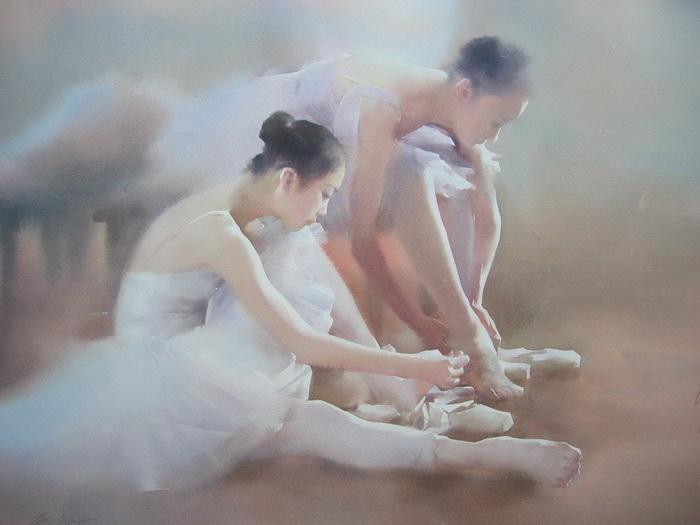 Балерины на акварелях Liu Yi