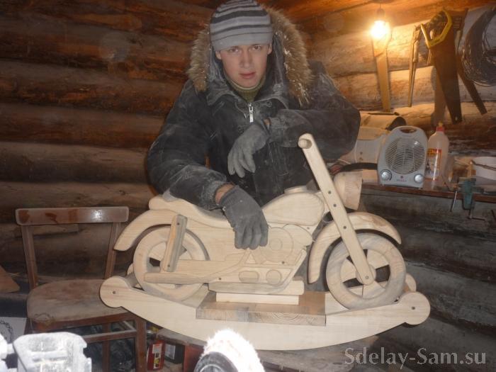 Как сделать детский мотоцикл из дерева своими руками