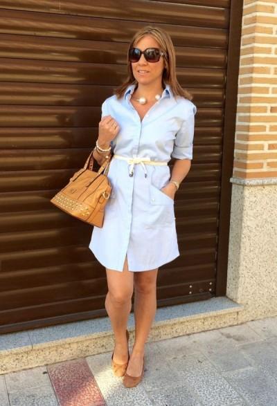 платье-рубашка в офисном комплекте 50-летней