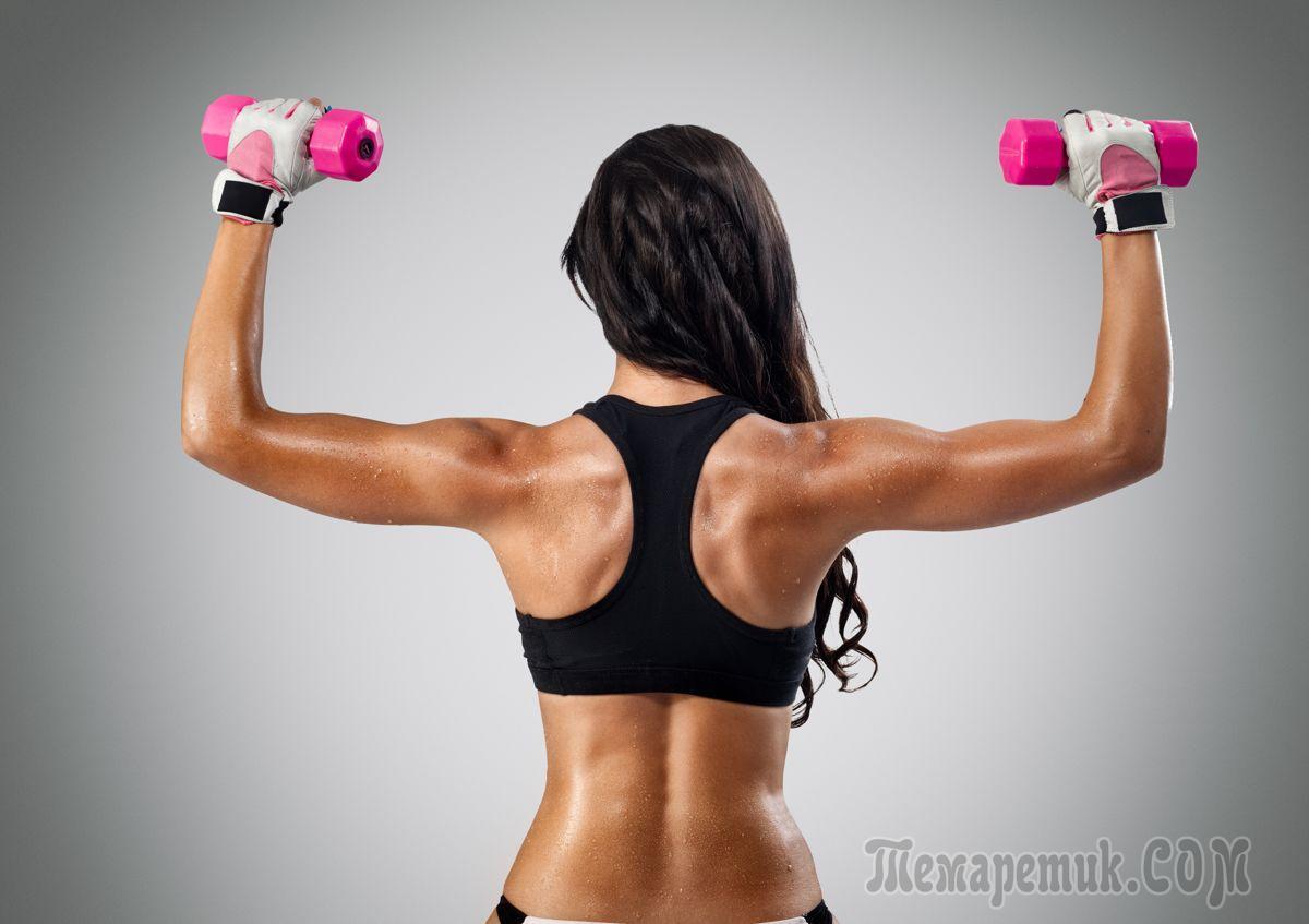 Упражнения для пожилых женщин с гантелями в домашних условиях для