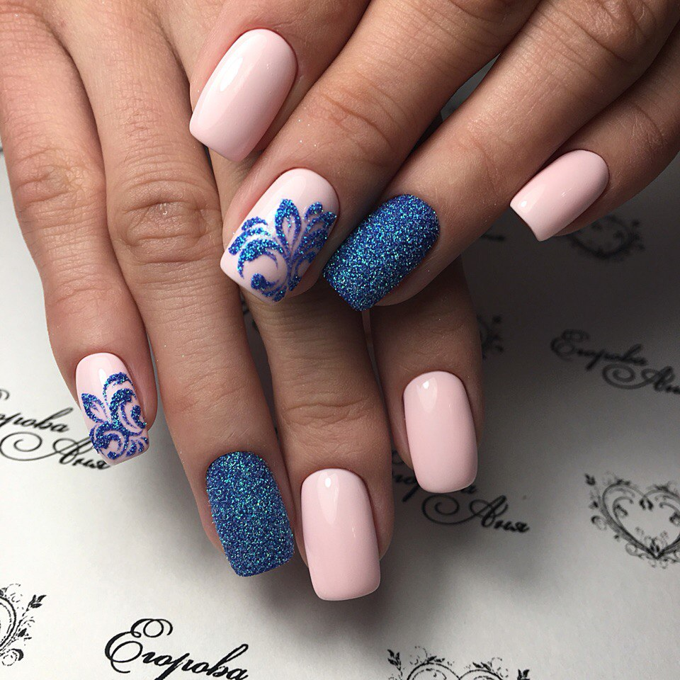 Дизайны ногтей с лентами гель лаками 2017-2018