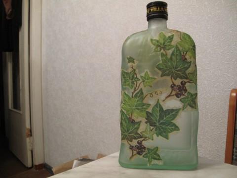 Декупаж бутылочки,летний вариант.