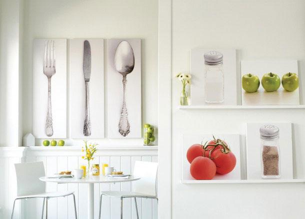 Украсить стену на кухне