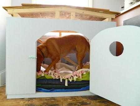 12 креативных домиков, которые хозяева сами сделали для своих собак фото 8