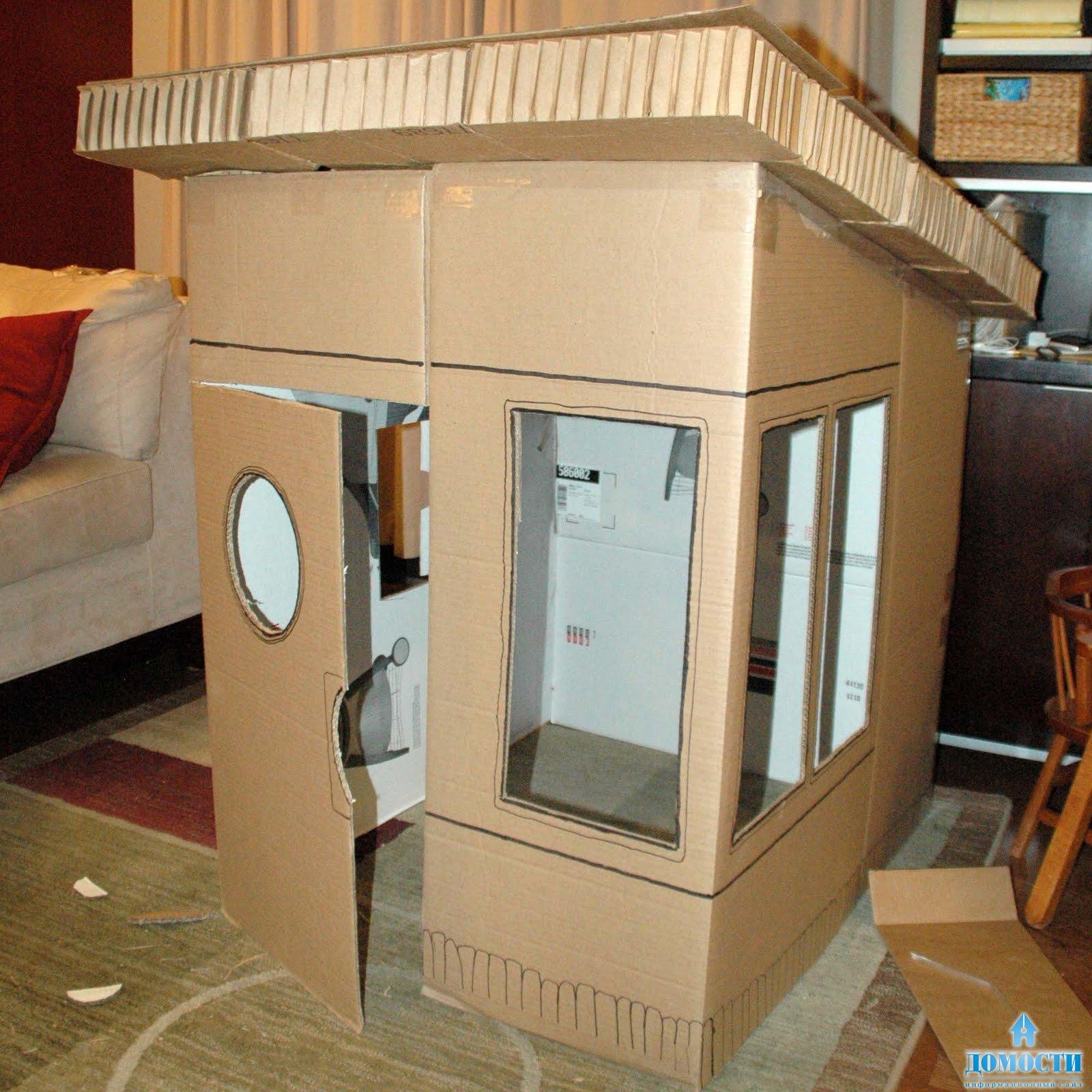 Как сделать дом из коробки своими руками для барби