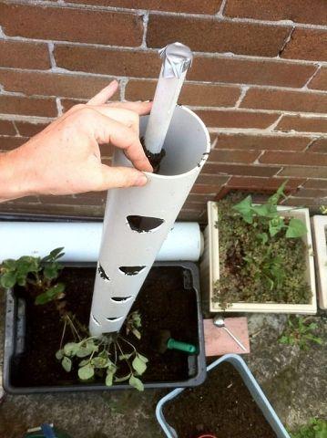 Вертикальные грядки из трубы для клубники