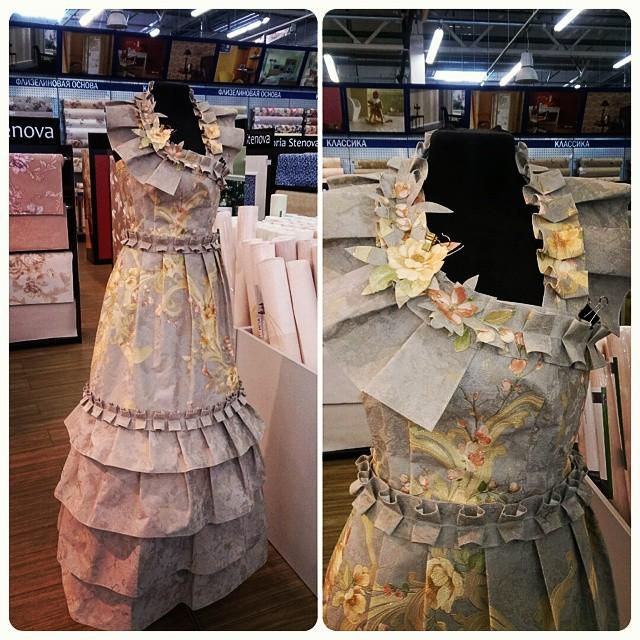 Вечернее платье... из обоев! Очень круто!) маразм, ценник, юмор
