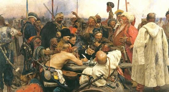 Запорожцы пишут письмо турецкому султану