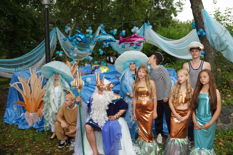 Костюм ко дню нептуна для детей своими руками 363