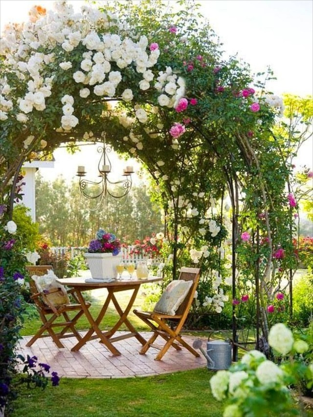 Какие цветы посадить возле беседки