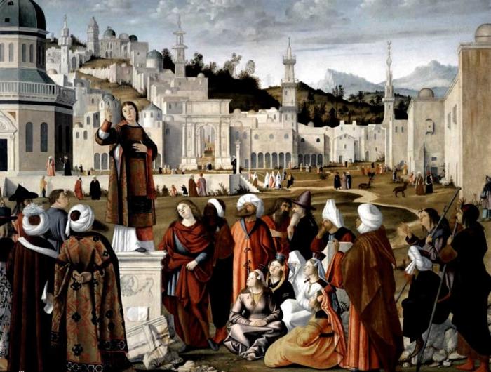 Проповедь святого Стефана перед воротами Иерусалима (Витторе Карпаччо, 1514, Лувр)