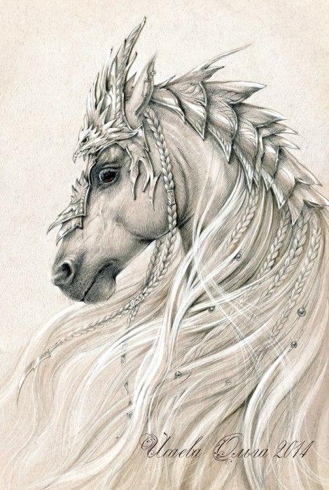 Эльфийский конь (Elven horse). Волшебные работы Ольги Исаевой (Olga Isaeva).