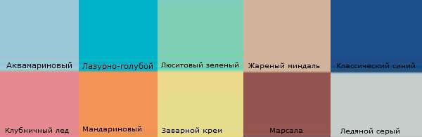 Модные цвета весна-лето 2015 от Pantone Color Institute