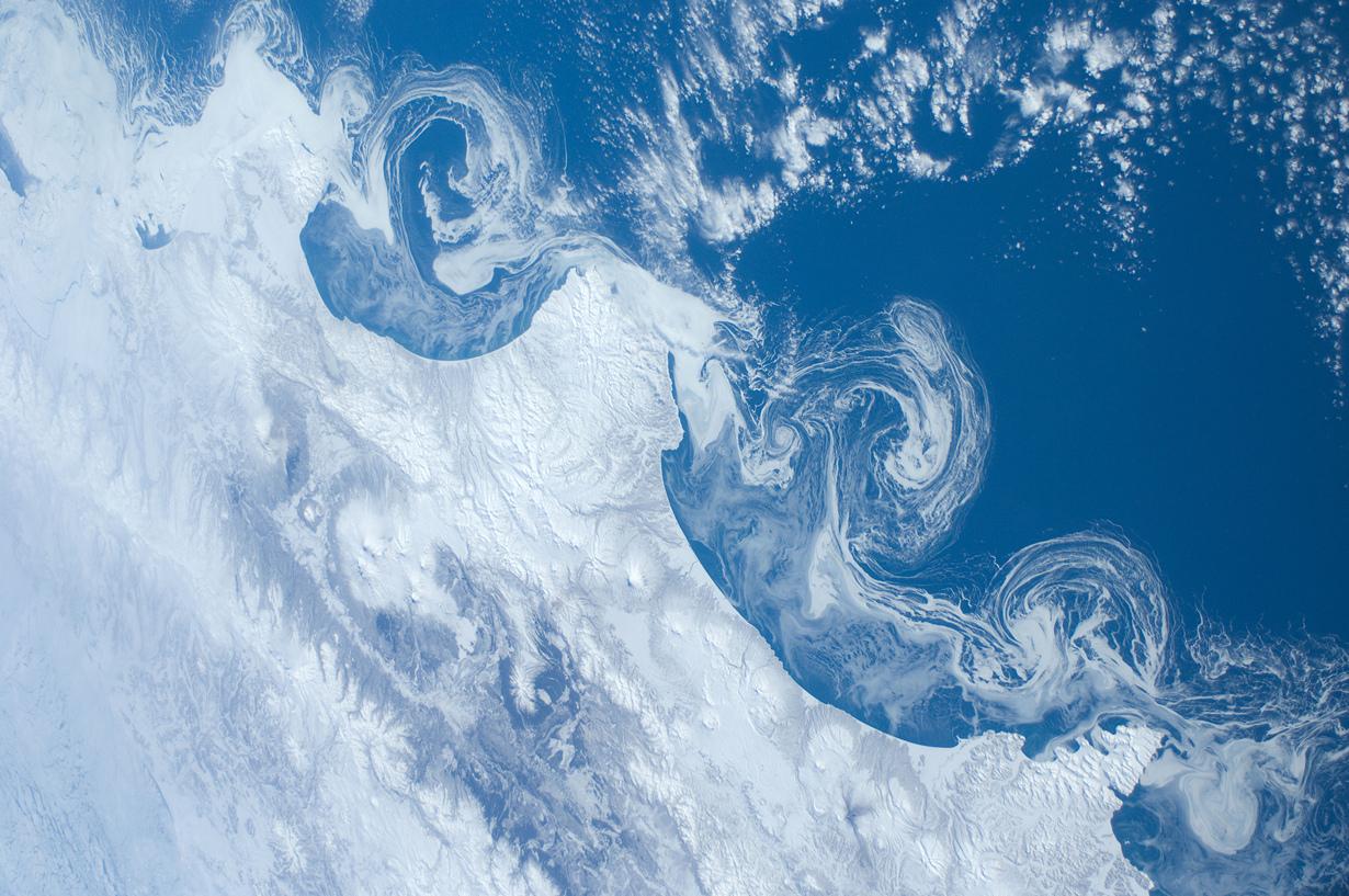 Россия. Природа Камчатки. (NASA)