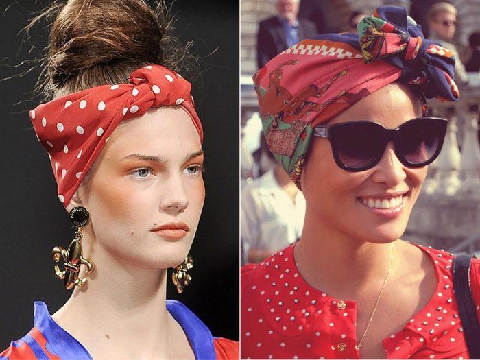 Фото как повязать платок на голову
