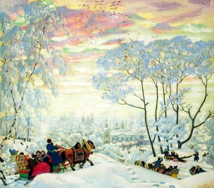 Б. Кустодиев. Зима, 1916