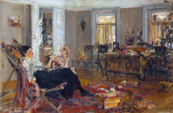 Н. Фешин. Елка, 1917