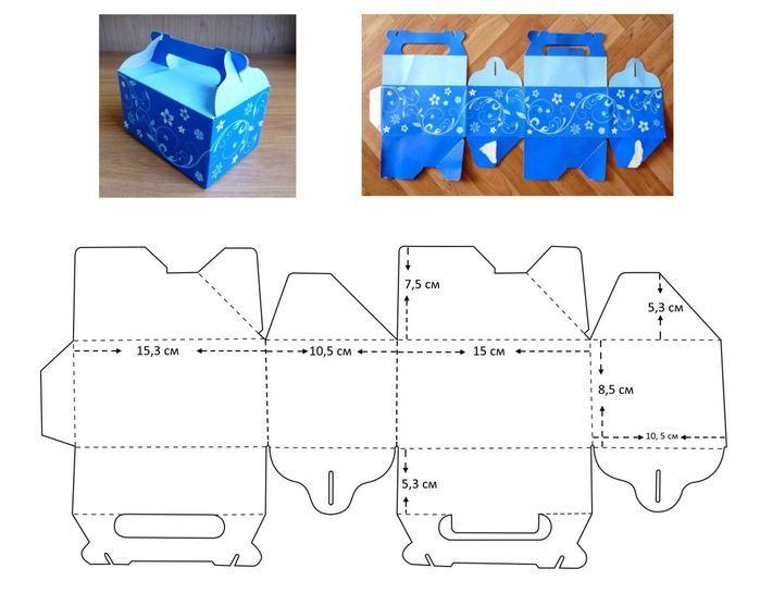 Коробочка для подарков своими руками размеры