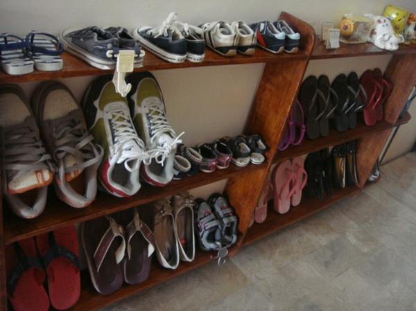 Сделать  полку для обуви фото