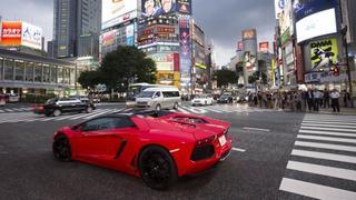 Встреча владельцев суперкаров Lamborghini в Токио