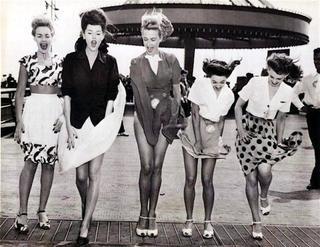 Как выглядели девушки 40-х