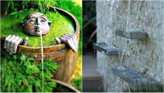 Великолепные фонтаны для сада, которые удивляют