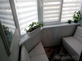 Пуфики своими руками на балконе - После ремонта