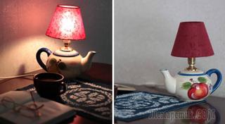 Настольная лампа из чайника, вазы, да из чего угодно !!