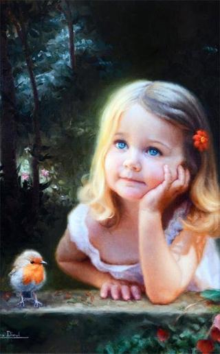 Дети на картинах Марины Диул (Marina Dieul)