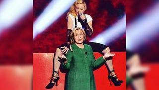 Мадонна оголилась в поддержку Хиллари Клинтон