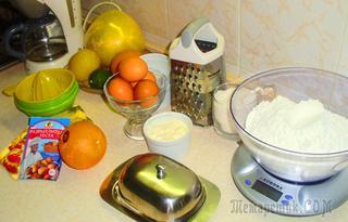 Апельсиновые печенья  к чаю!!