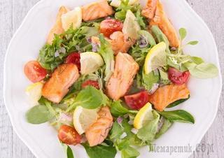 """Теплый салат из морепродуктов """"Дары моря"""" - Недорогой простой рецепт"""