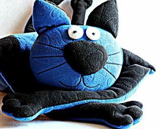 Кот-подушка. Мастер-класс + выкройка