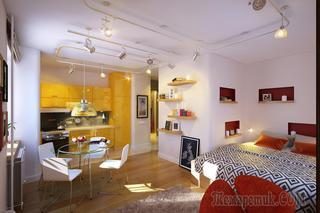 Яркий жизнерадостный интерьер квартиры в Ленсоветовском