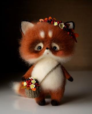 Авторские игрушки из шерсти Кристины Шаблиной