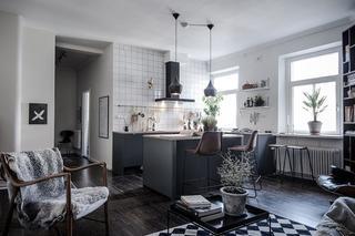 Меньше красок: Квартира в Гётеборге
