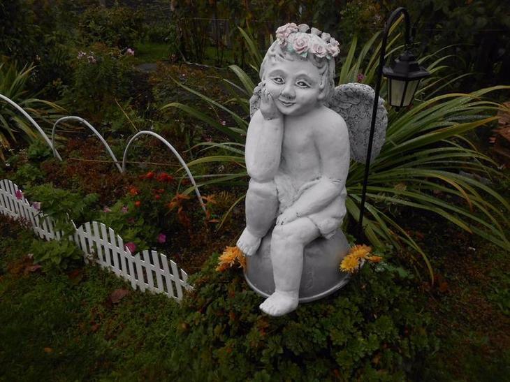 садовая фигура ангел своими руками, мастер класс, мк, ангел для сада, своими руками, садовая скульптура, обустройство приусадебного участка, декор для дачи, ангел из цемента, садовая скульптура из подручных материалов