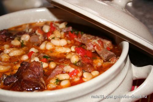 Фасолевый суп рецепт с фото с копчёными рёбрышками