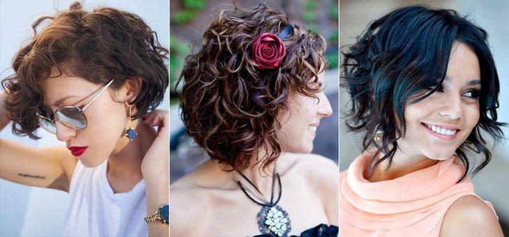 Волнистые волосы для коротких волос в домашних  104
