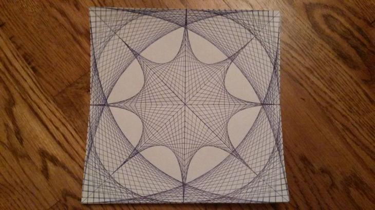 8. Рисунок, нарисованный прямыми линиями. интересное, фото
