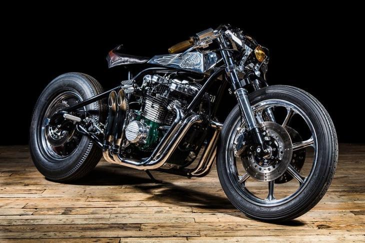 Кастом-байк Kawasaki Z1000ST от мастерской Ed Turner кастом-байк, катсомайзинг, мото, мотоцикл