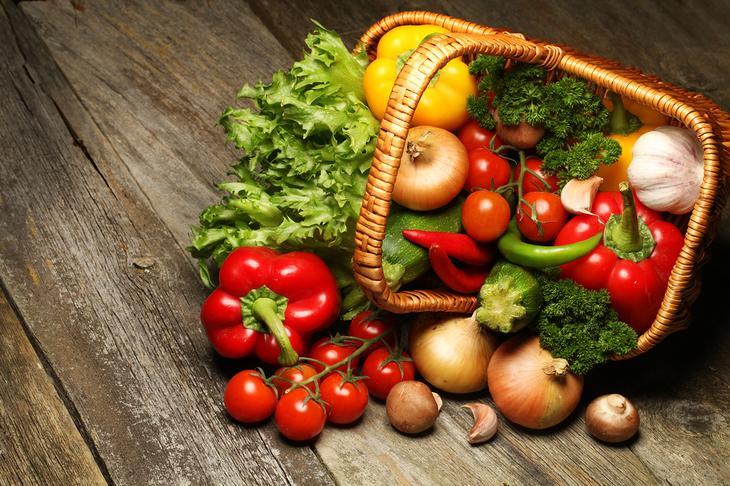 Овощи — полезные продукты питания