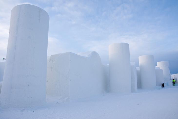 Ледяной замок в Финляндии. Фото