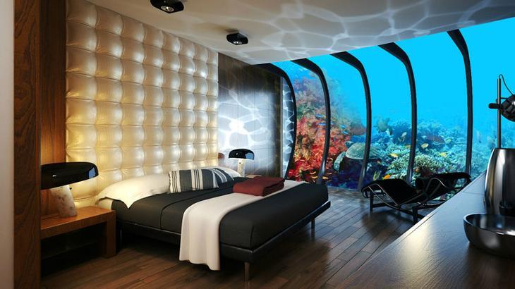 2. Номер в подводном отеле, Дубай. интересное, фото