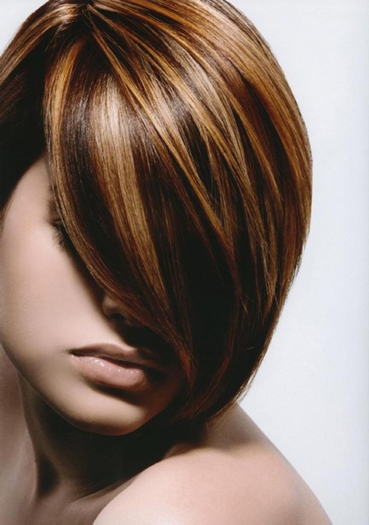Как сделать мелирование на коричневых волосах 678