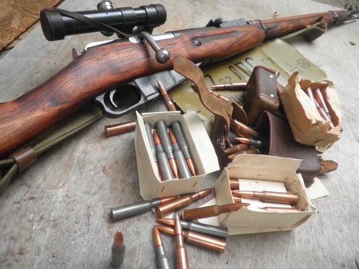 Пробивное действие патрона винтовки Мосина