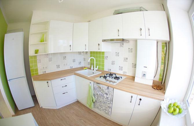 Ремонт на кухне 6 кв м — до и после
