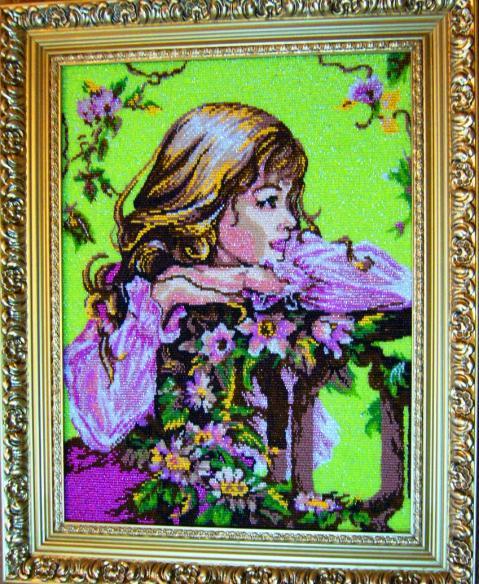 Картины из бусинок своими руками фото